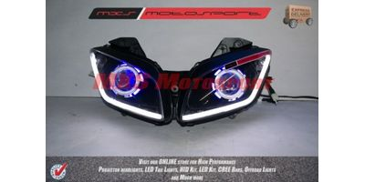 MXSHL133 Robotic Eye Projector Headlight Yamaha R15 v2