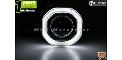 Bajaj Platina 100 Headlight HID BI-XENON Halo Ring Square Projector
