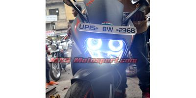 MXS1935 Angel Eyes Halo Ring KTM RC200 Bike Motorcycle COB LED With Indicator