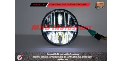 MXSHL102 Black CREE LED Light Phase Headlight for Royal Enfield Bullet