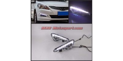 MXS2349 LED Fog Lamps Day Time Running Light Hyundai Verna Fluidic 4S