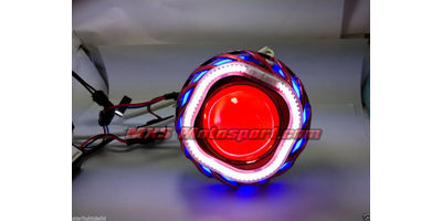 MXS2429 Motorcycle HID BI-XENON Projector blaster Square Angel Eye