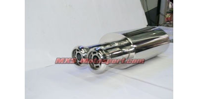 MXS2443 Dual Tip Exhaust Muffler Silencer Burnt tip Turbo Spiral Fllow For Car