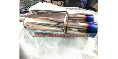 MXS2451 HKS Dual Tip Exhaust Muffler Silencer Burnt tip Turbo Spiral Fllow For Car
