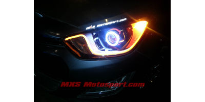 MXS2506 Audi-Style White-Amber DRL Daytime Running Light for Hyundai i20