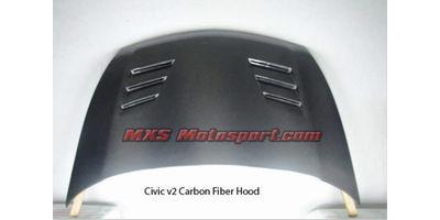 MXS2538 Honda Civic V2 Carbon Fiber Bonnet Hood