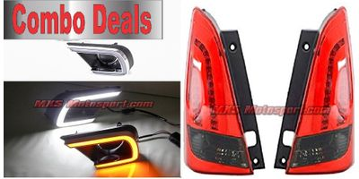 MXS2554 Led Tail Lights & Led Daytime Fog Lamps Toyota Innova Combo Deal