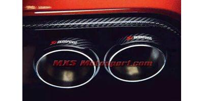 MXS2568 Akrapovic Carbon Fiber Dual Exhaust Tips