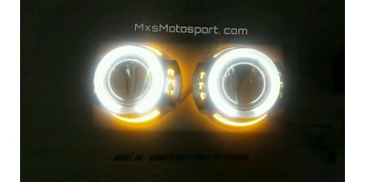 MXS2571 Headlight HID BI-XENON HALO Ring Shark Eye Projector