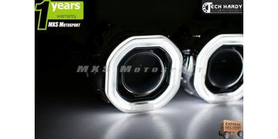 MXS871 Nissan Sunny Headlight HID BI-XENON HALO Ring Square Projector