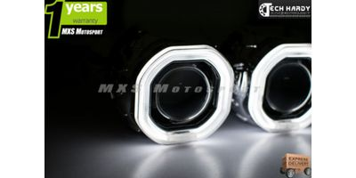 MXS872 Mitusbishi Lancer Headlight HID BI-XENON HALO Ring Square Projector