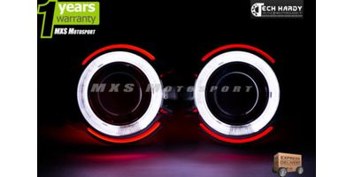 Tata Safari Headlights HID BI-XENON Projector Ballast Shark & Angel Eye