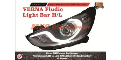 MXSHL16 Projector Headlights Hyundai Verna Fluidic Headlights & DRL (Pair)