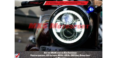 MXSHL172 LED Monster Projector Headlight for Royal Enfield Bullet Classic 350 & 500 Motorcycle