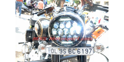 MXSHL182 LED Monster Projector Headlight Royal Enfield Bullet