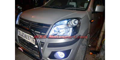 MXS2465 Audi-Style White-Amber DRL Daytime Running Light for Maruti Wagon r