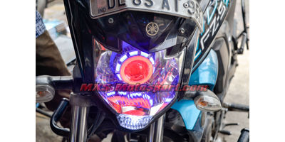 MXSHL503 Led Projector Headlight with Angel Eye for Yamaha FZS