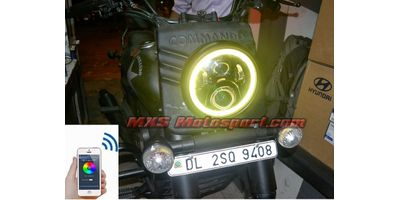 MXSHL518 UM Renegade Commando Headlight Halo Ring Angel Eye with Bluetooth APP Control