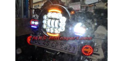 MXSHL605 Royal Enfield Bullet Cree LED Daymaker Headlight