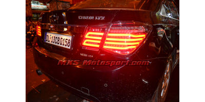 MXSTL105 LED Tail Light Chevrolet Cruze Smoked Black Matrix Style