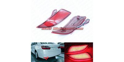 MXSTL107 Rear Bumper Reflector DRL LED Tail Lights Toyota Camry 2014-2016