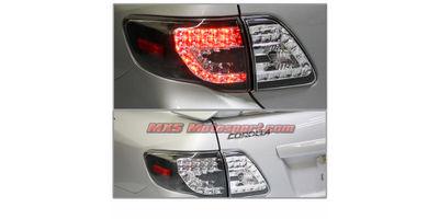 MXSTL139 Toyota Corolla Led Tail Light Smoked Black