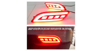 MXSTL143 Jeep Compass Rear Bumper Reflector DRL LED Tail Lights