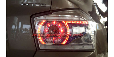 MXSTL92 LED Tail Lights Evoque style Smoked Black Honda city