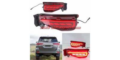 MXSTL99 Rear Bumper Reflector DRL LED Tail Lights New Version Toyota Fortuner 2017