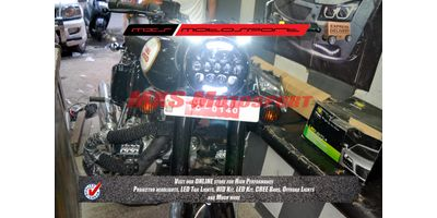 MXSHL101 Black Projector LED Light DRL Royal Enfield Bullet