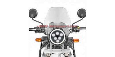 MXSHL104 Black Round Projector LED Hi/Lo Light Royal Enfield Bullet