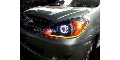MXS1892 Audi-Style White-Amber DRL Daytime Running Light for Toyota Innova
