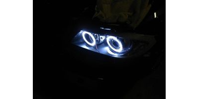 MXS1944 White 2x100mm Car Bike motorcycle COB Led Angel Eyes Halo Ring Light 12V