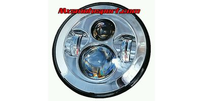 MXSHL103 Chrome Round Projector LED Hi/Lo Light Royal Enfield Bullet