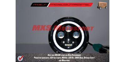 MXSHL156 Tech Hardy White Angel Eye Projector Headlights for Mahindra Thar Jeep