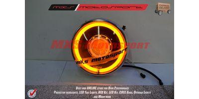 MXSHL110 Royal Enfield Bullet Electra 350 Headlight Projector & Day Running Light