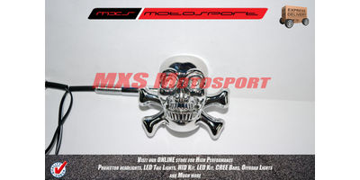 MXS2240 Chopper Skull Turn Signal Indicators 'Blue'