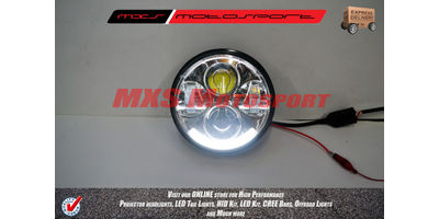 MXSHL227 Daymaker LED Monster Projector Headlight Suitable for Harley Motorcycle