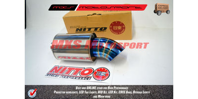 MXS2235 Nitto Racing Series Exhaust Muffler Silencer Burnt tip Turbo Spiral Fllow