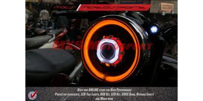 MXSHL107 Royal Enfield Bullet Classic 350 & 500 Headlight Bi Xenon HID Projector, DRL's