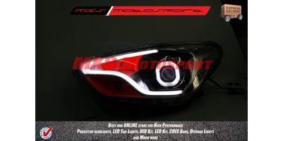 MXSHL60 Motosport Square Eye Projector Headlight With DRL Ford Figo Aspire