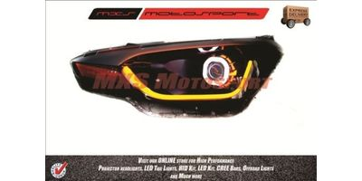 MXSHL53 Robitic Eye Projector Headlight With DRL System Hyundai i20 Elite