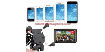 MXS2384 Bike Handlebar Rail Mount USB Charger Universal X-Grip Cell Phone Holder
