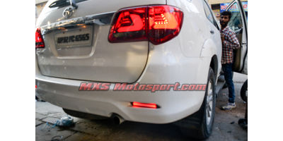 MXSTL83 Rear Bumper Reflector DRL LED Tail Lights Toyota Fortuner 'Smoked Black'