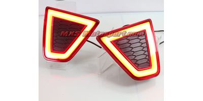 MXSTL46 Rear Bumper Reflector LED Tail Lights Honda jazz