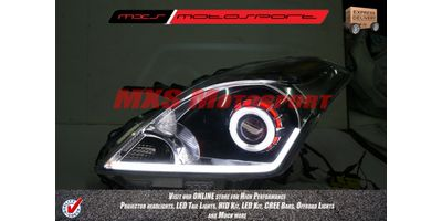 MXSHL57 Round Robitic Eye Projector Headlight With DRL Maruti Suzuki Baleno