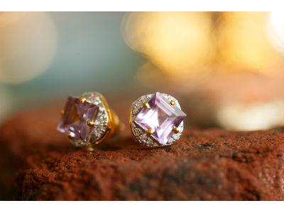 Amethyst Diamond Square Tops