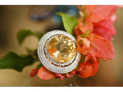 The Yellow Topaz Cocktail ring