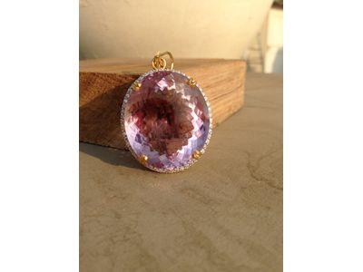 Amethyst Diamond Pendant