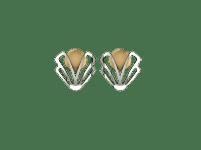 Beautiful gold carving earings